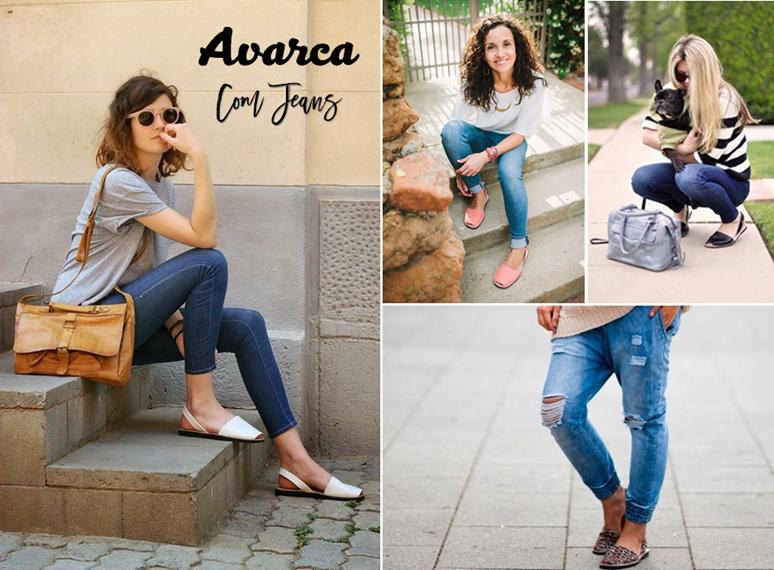 Avarca com calça jeans