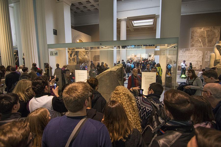 Piedra Rosetta en el Museo Británico de Londres
