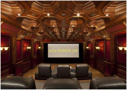 desain atap home theater