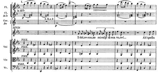 """Inizio della scena della pazzia in """"Lucia di Lammermoor"""" di G. Donizetti"""