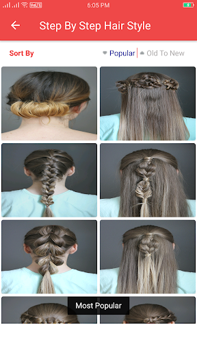 Girls Hairstyle Step by Step  screenshots 17