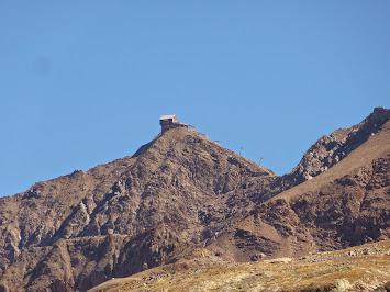 Vue sur le Pic Blanc depuis l'arrivée