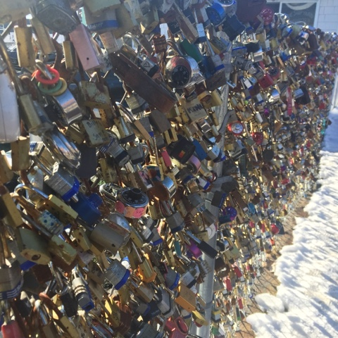 love locks, old port, portland, maine