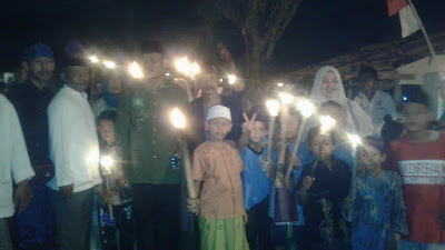 Sambut Tahun Baru Islam,Warga Karawang Gelar Pawai Obor,Sunatan Massal dan Santunan Yatim Piatu