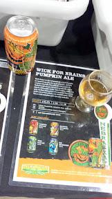 A taste of Wick for Brains Pumpkin Ale from Nebraska