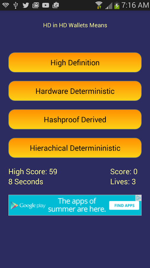 Bitcoin Trivia- screenshot