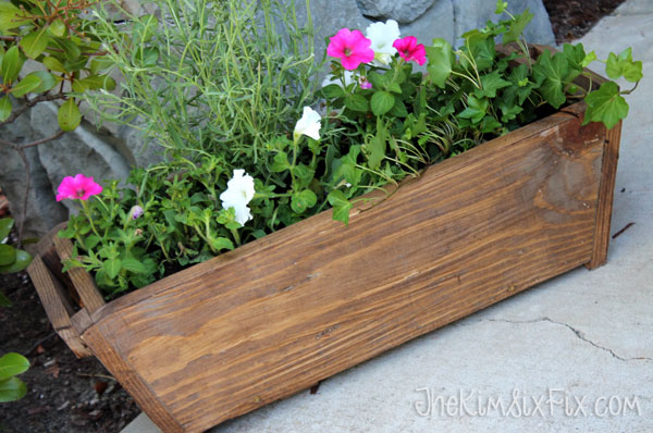 Wooden tapered flower box