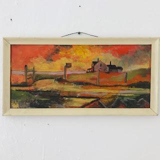 Expressionist Oil Landscape