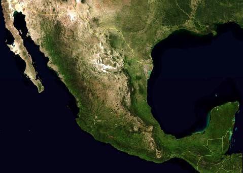Mapa satelital de México