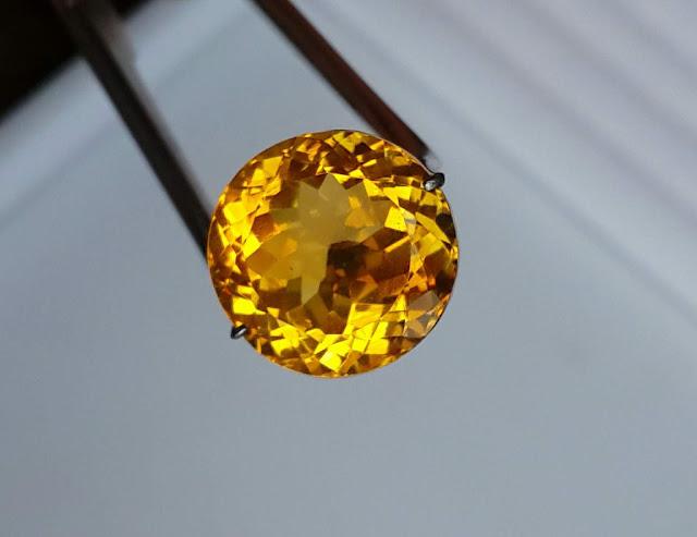 Đá Natural Citrine đá thạch anh vàng mài tròn