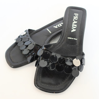 Prada Patent Leather Slides