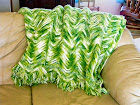 Crocheted ripple afghan