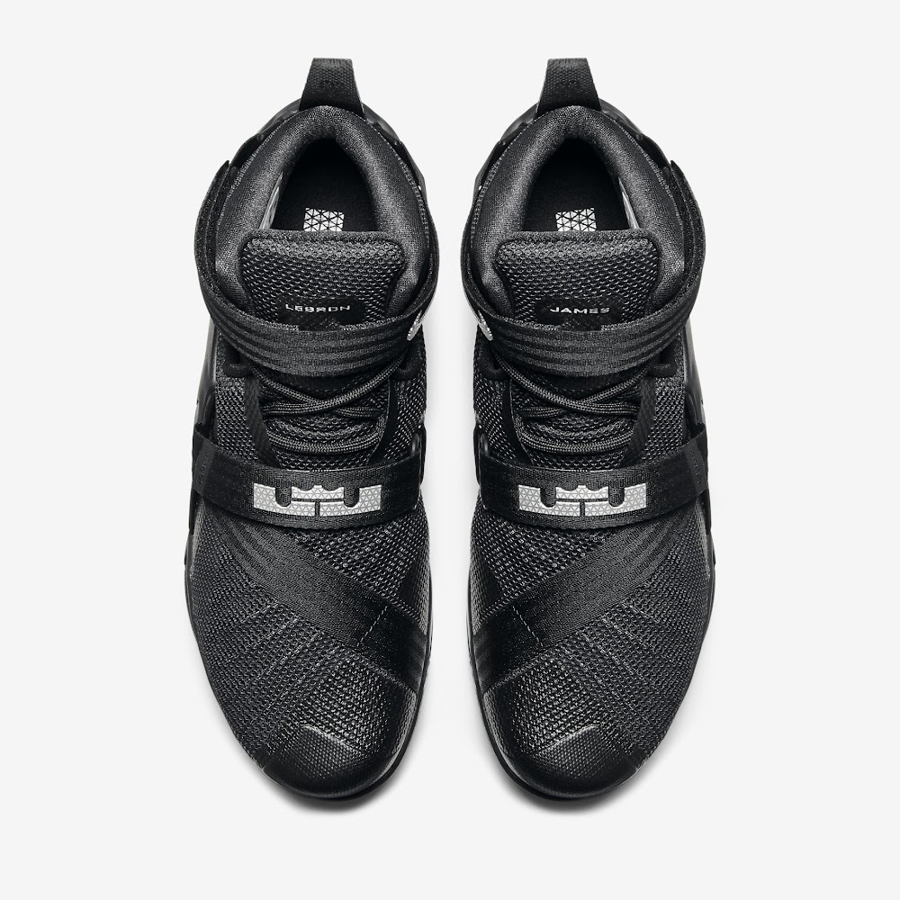 55dd97c705c ... Closer Look at Blackout Nike LeBron Soldier 9 ...