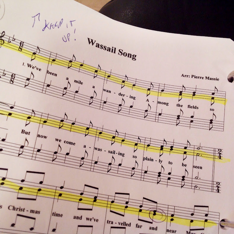 Sheet music for Wassail