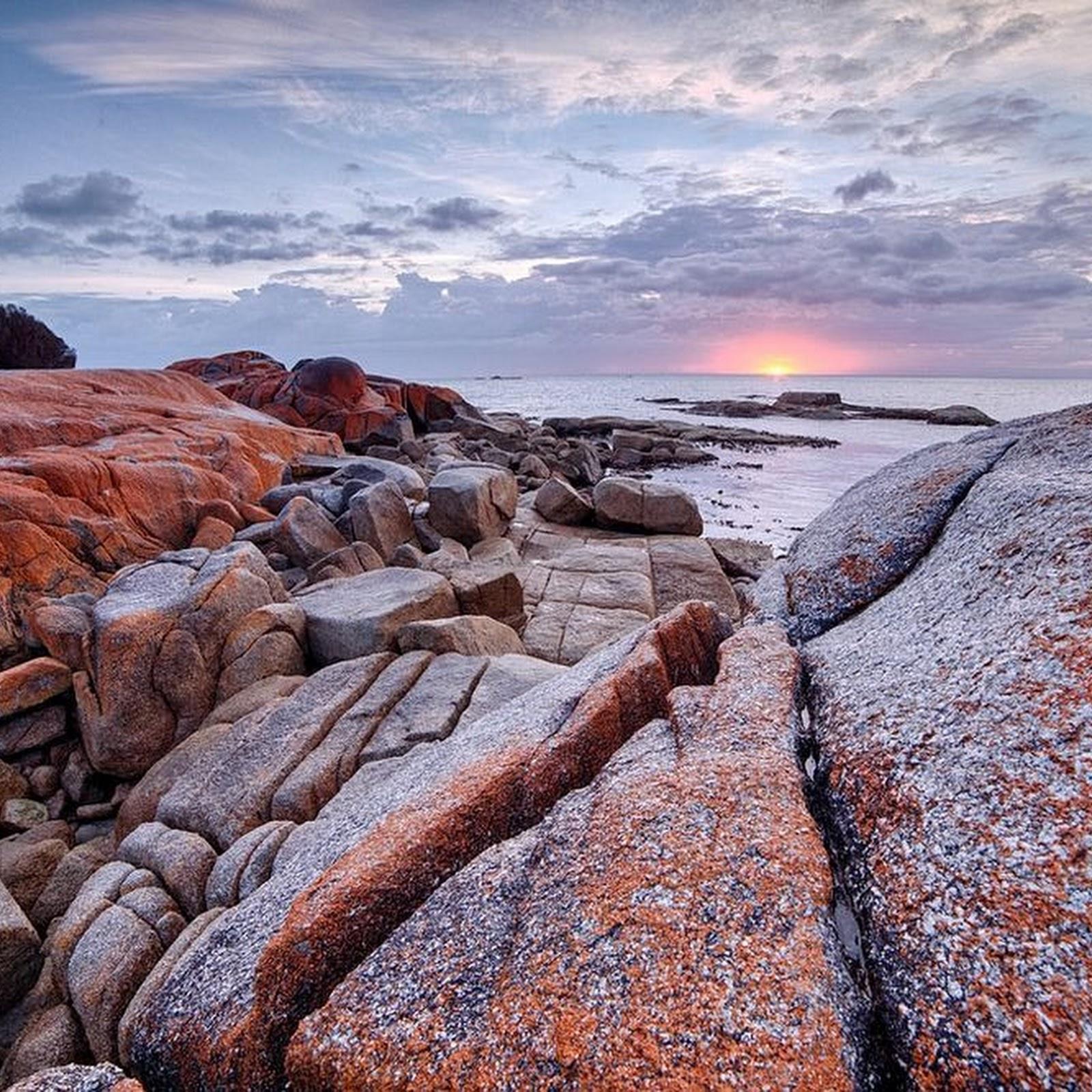 The Orange Rocks of Bay of Fires