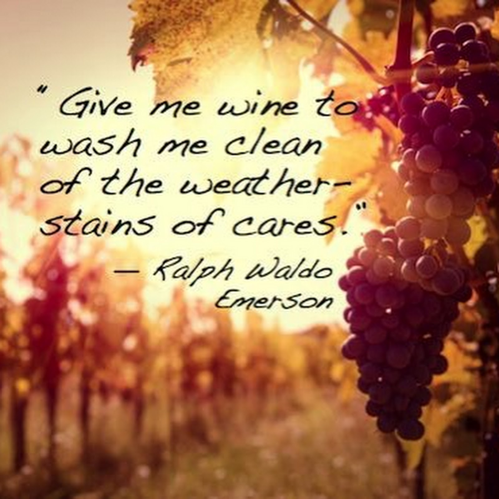 Wine Quote of the Week - Emerson
