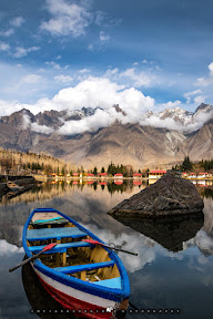 Autumn at Shangrila Lake, Skardu