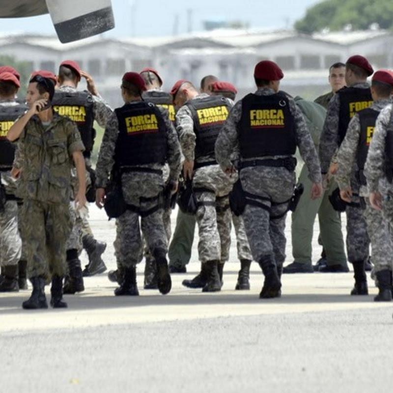 Integrantes da Força Nacional chegam para iniciar Plano em Natal