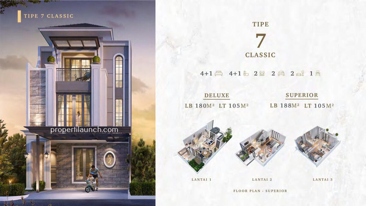Rumah Bukit Podomoro Jakarta Tipe 7 Classic