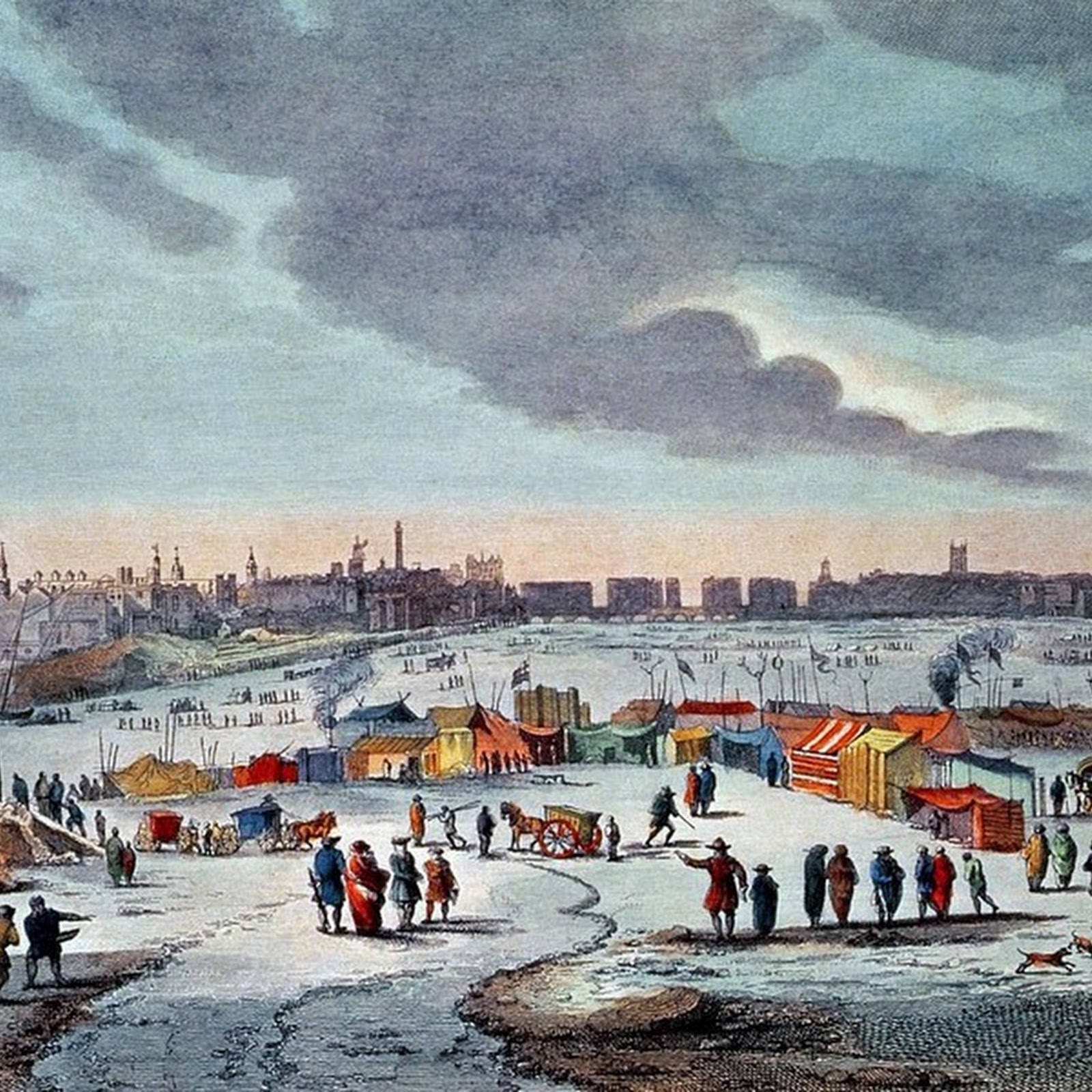 The Frost Fairs of River Thames