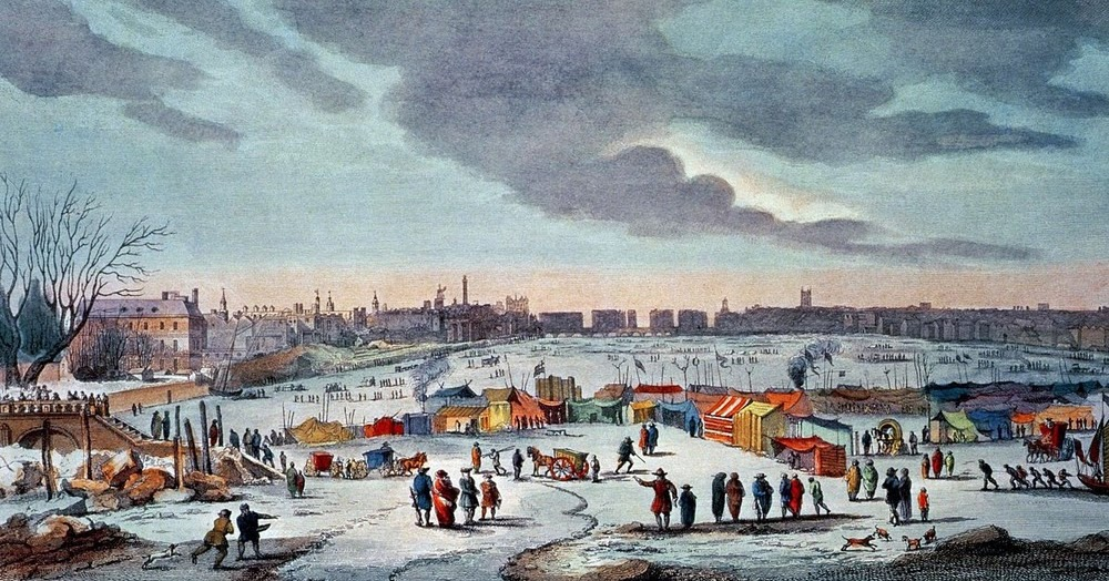 The Frost Fairs Of River Thames Amusing Planet