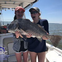 The girls had to get in on the action Black drum 04-02-2018