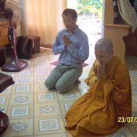 [TSPT-0100] Chú Hùng và sư cô Liên Tịnh thăm Thầy (23/09/2009)