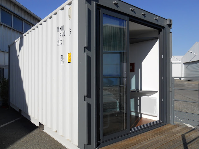 container 20 ft 13m2 habitable maison container. Black Bedroom Furniture Sets. Home Design Ideas