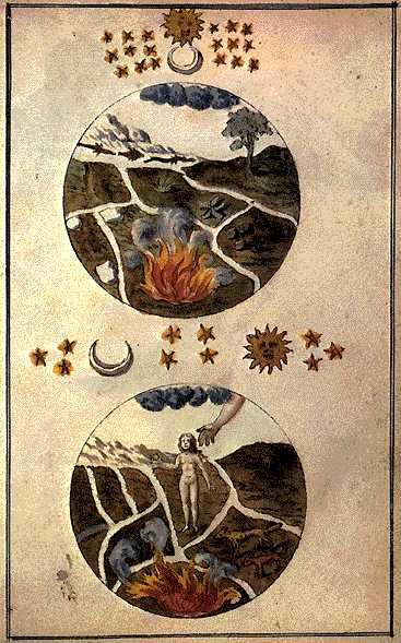 Cabala Mineralis Manuscript Engraving 3, Hermetic Emblems From Manuscripts 1