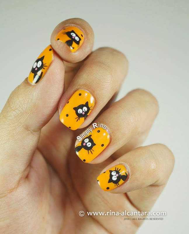Return of the Black Cats Galore Nail Art by Simply Rins
