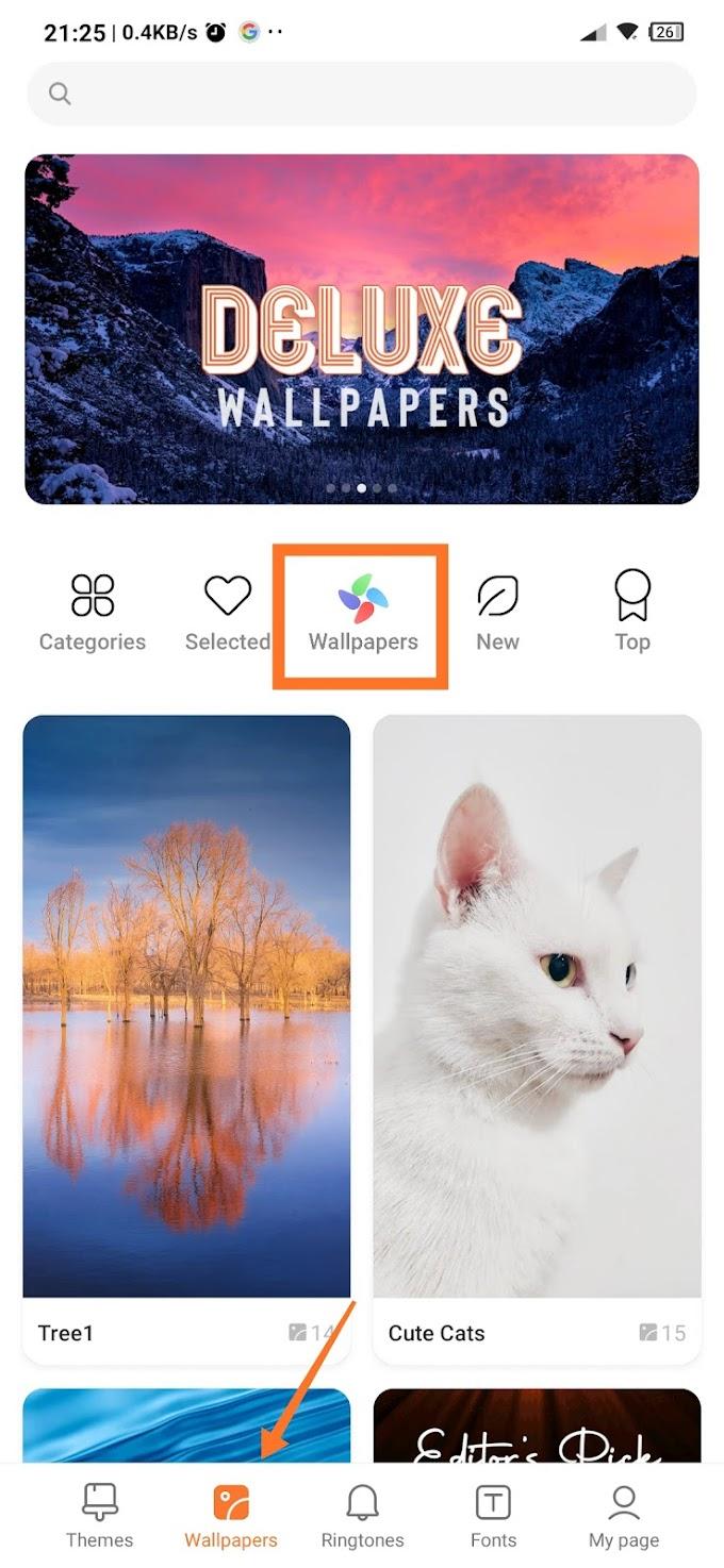 Cara Download Wallpaper Bergerak (Live Wallpaper) Gratis Xiaomi