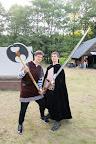 Zdatní vikingští bojovníci.