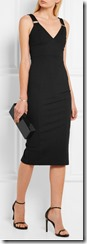 Michael Michael Kors black stretch jersey dress