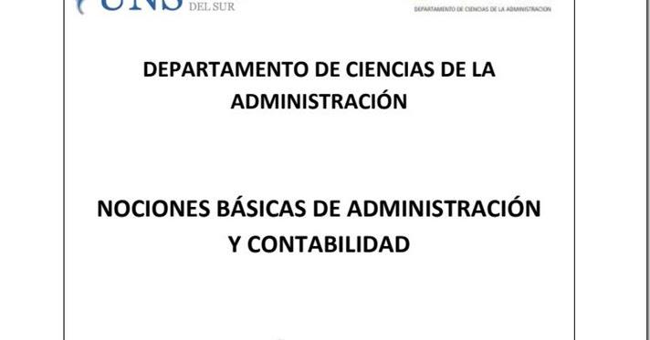 Nociones b sicas de administraci n y contabilidad de la for Nociones basicas de oficina concepto