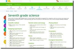 ixl science learning screeshot
