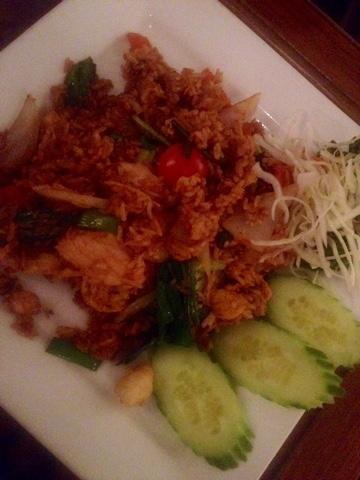 A nasi goreng style dish at Kinkao
