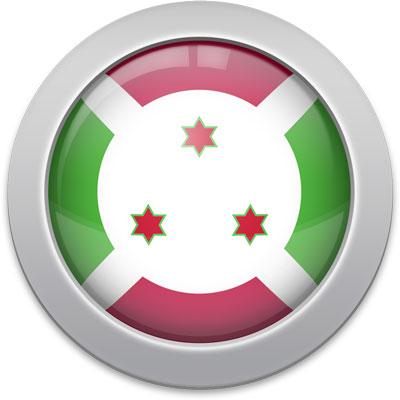 Burundian flag icon with a silver frame