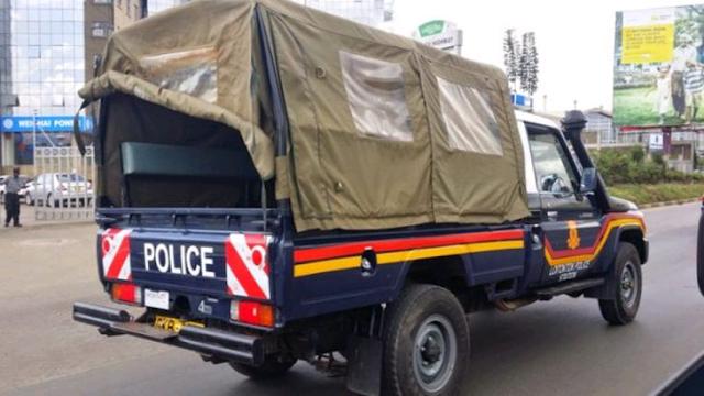 Police car photo in Kisumu central police