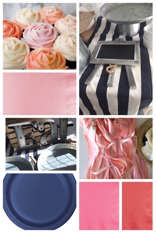 navy peach pink and white wedding reception, weddings, Hot dog wedding