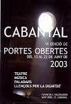 Portes Obertes 2003