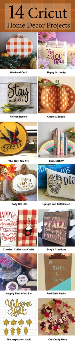 14 Cricut home decor projects sm