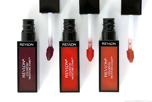 Revlon Colorstay Moisture Stain Reviews (Parisian Passion, Shanghai Sizzle, and Milan Moment) | Blush Me Pretty