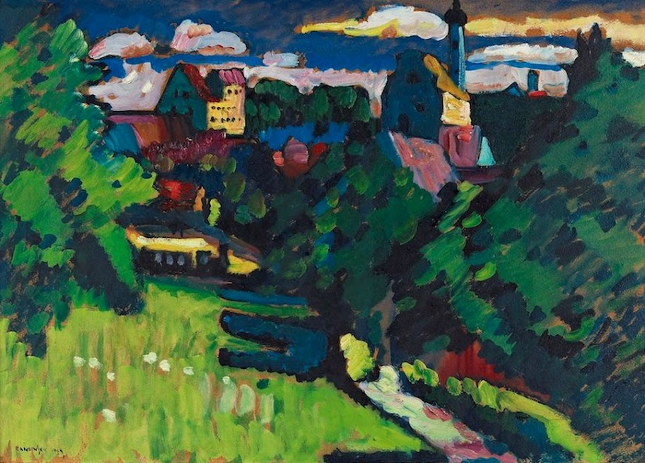 Wassily Kandinsky – View of Murnau to the railroad, the church and the castle, 1909