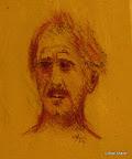 067 - Portrait d'Eric - 1995 24 x 30 - Craie sanguine sur carton