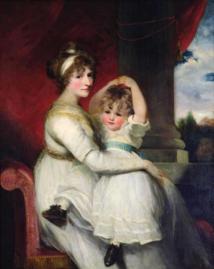 John Hoppner - Georgina, Countess of Bathurst and her son