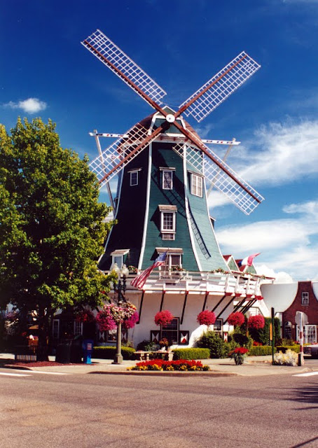 The windmill is a backdrop for many pictures in downtown Lynden and is also the anchor for unique shops, and indoor canal and the community theatre. / Credit: Robert James