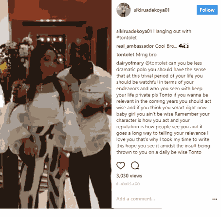 Rumours of relationship between Tonto Dikeh and Hushpuppi