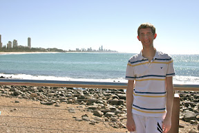 Me at Burleigh Heads with Surfer's Paradise in the background