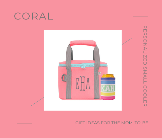 Personalized Small Cooler in Coral from Marleylilly.com