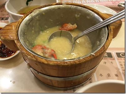 porridge with salted egg and crab